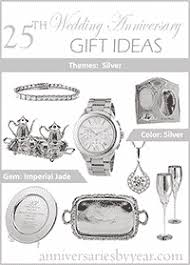 25th wedding anniversary 25th anniversary gift ideas