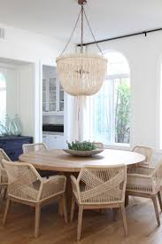 woven dining room chairs rattan wicker seat table and leather on dining room