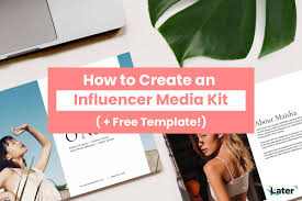 How To Create An Influencer Marketing Kit Free Photoshop Template