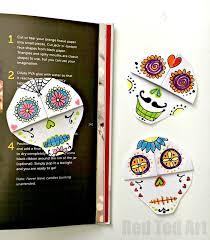 sugar skulls bookmark diy