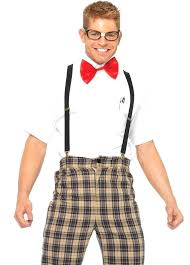 male nerd costume funny class geek fancy dress diy
