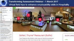 virtual field trips to enhance employability skills in hospitality virtual field trips to enhance employability skills in hospitality transforming assessment