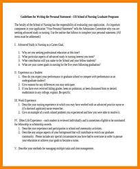 Nursing Personal Statement Examples 17 Unique Personal Statement Examples Nursing Graduate School