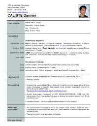New Resume Formats New Resume Format Free Download Philippines For