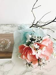 Paper Flower Bouquet For Wedding Amazon Com Paper Flower Bouquet Mothers Day Gift