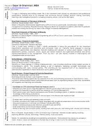 Mba Resume Examples Corol Lyfeline Co Student Career Objective For