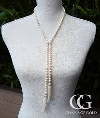 38 freshwater pearl necklace with tassels
