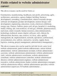 Web Administration Sample Resume