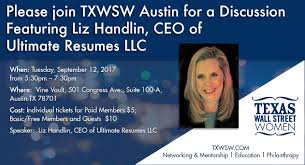 Ultimate Resumes Please Join Txwsw Austin For A Resume Workshop Featuring Liz Handlin
