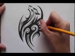 tribal wolf drawings in pencil. Perfect Tribal Pencil Shading Around Tribal Wolf Tattoo Design  Real Time Intended Drawings In E