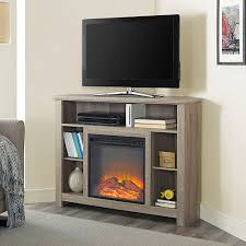 details about corner fireplace tv stand rustic storage cabinet electric space heater up to 60