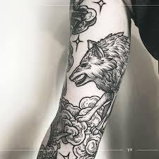 черная татуировка в москве анастасия ятссон Yatsson Tattoo