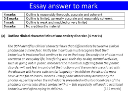 phobic disorders ppt  essay answer to mark outline clinical characteristics of one anxiety disorder 4 marks