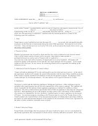 Rental Agreement Editable Word Document