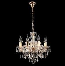 <b>Подвесная люстра Crystal Lux</b> Ines SP8 Gold/Transparent - купить ...
