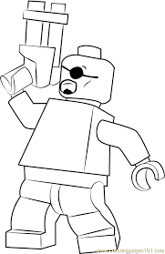 lego nick fury coloring page for kids