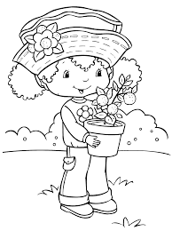 Fancy Strawberry Shortcake Coloring Page 97 For Your Free ...