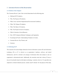 Literature Review Outline Example Of A Literature Review Outline Magdalene Project Org