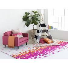 Pink Rugs For Living Room Surya Abigail Hot Pink Carnation Area Rug Reviews Wayfair