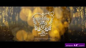 Wedding Title Wedding Title Free After Effects Templates After Effects