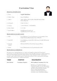 Example Engineer Resume Example Of A Resume Format Curriculum Vitae ...