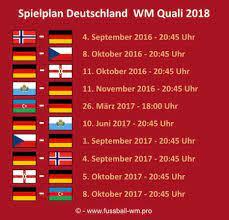 Die liga auf einen blick. Deutschland Wm Qualifikation 2018 Spielplan Analyse