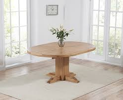 mark harris turin solid oak round extending dining table 125cm 180cm