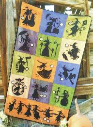 When Witches Fly 100% Hand Dyed Wool Quilt Kit by Sandra McKee & When Witches Fly 100% Hand Dyed Wool Quilt Kit Review Adamdwight.com