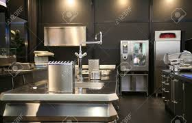 Industrial Kitchen Interior Of New Industrial Kitchen Stock Photo Picture And