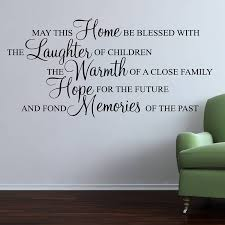 Wall Sticker Quotes Classy May This Home Be Blessed Wall Stickers Quote By Parkins Interiors