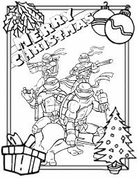 Small Picture Ninja Turtles Border Christmas Coloring Page H M Coloring Pages