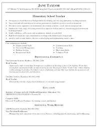 Preschool Teacher Resume Examples Teachers Resume Samples Summer