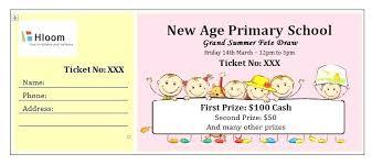 Free Editable Raffle Movie Ticket Templates Door Prize Drawing