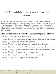 Top 8 hospital chief operating officer resume samples In this file, you can  ref resume ...