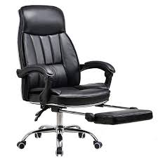 big tall deluxe reclining office chair with footrest stool swivel executive pu high backrest computer desk