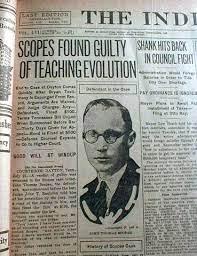 Στις 13 Μάρτη του 1925 απαγορεύεται στο Τενεσί των ΗΠΑ η διδασκαλία της θεωρίας της εξέλιξης του Δαρβίνου στα σχολεία - e-Πρόλογος