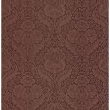 brewster damask burgundy wallpaper
