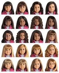 Visual Chart Of Truly Me Dolls New American Girl Doll