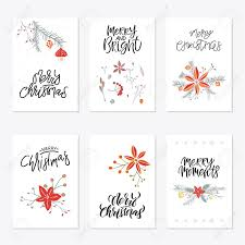 Gift Cards For Christmas Collection Of 6 Cute Merry Christmas Gift Cards Set Of Six Printable