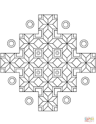 Small Picture Indian Geometric Pattern coloring page Free Printable Coloring Pages