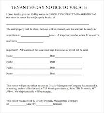 30 day eviction notice forms free printable eviction notice template