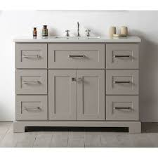 legion furniture warm grey 48 inch single bathroom vanity