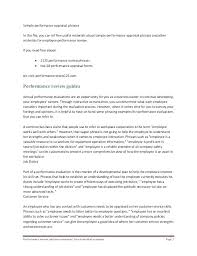 Preformance Review Forms Performance Review Template For Managers Performance Review Sample
