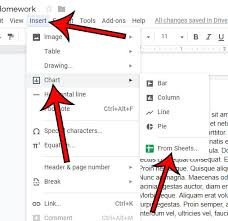 How To Insert A Google Sheets Chart Into A Google Docs