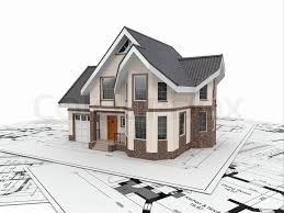 architecture blueprints 3d. Plain Architecture Residential House With Tools On Architect Blueprints Housing Project 3d   Stock Photo Colourbox With Architecture Blueprints T