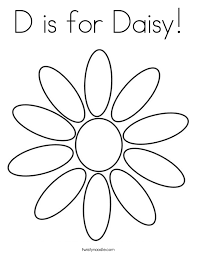 Small Picture D is for Daisy Coloring Page Twisty Noodle