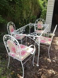 White metal patio chairs 1950s Mid Century Patio Set Woodardsalterini Era 1940s50s By Midmode 95000 White Metal Pinterest Mid Century Patio Set Woodardsalterini Era 1940s50s By Midmode