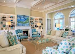 beach style living room furniture. Fascinating Beach Style Living Room Furniture With Drum Shape White Standing Lamp And Wall Shelves Idea E