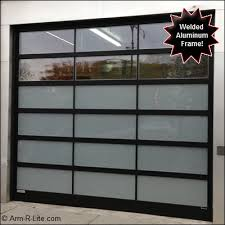 welded alumium overhead sectional door electra model