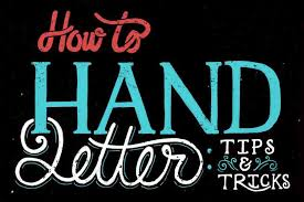what is hand lettering